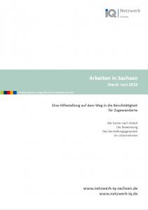 Heft Cover Arbeiten in Sachsen
