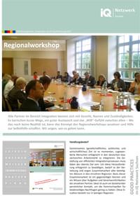 erste Seite vom Faltblatt Good Practice – Regionalworkshop