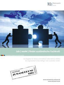 Heft Cover Job sucht findet ausländische Fachkraft