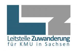 Logo - Leitstelle Zuwanderung KMU Sachsen