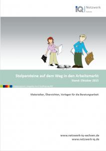 Heft Cover Stolpersteine auf dem Weg in den Arbeitsmarkt