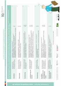 Übersichtsblatt Beratungswegweiser Stolpersteine auf dem Weg in den Arbeitsmarkt
